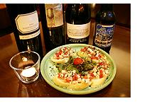 ワインと料理:ターキーブルスケッタ