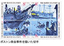 ボストン茶会事件を描いた切手