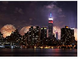ニューヨークの花火