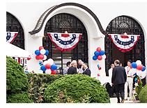 アメリカ独立記念日パーティー会場