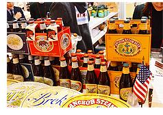 Brand USAフードテイスティングブースにならぶアメリカ産クラフトビール