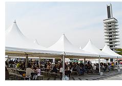 東京・駒沢公園「国際観光 食文化博2015」会場風景