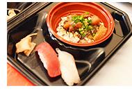 アメリカ食材を含めた寿司