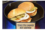 Texas Style Chopped Beef Sandwich
