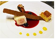 アラスカ産真鱈の北京風 トマトとシトラスジャム ハーブサラダ仕立て(前菜)