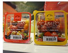 チェリートマトの「CAMEO」や数種類の品種を1パッケージにした「SYMPHONY」