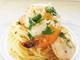 シュリンプとカッペリーニ・パスタ オリーブオイル、焼きガーリックとパン粉添え