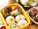 グレープフルーツちらし寿司のプチおにぎり&鶏の唐揚げグレープフルーツ甘酢和え