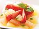 グレープフルーツのバジトマサラダ